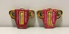 2 Burt's Bees Tin Holiday Gift Set  Lip Balm & Hands Salve & Cuticle Cream