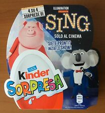 2017 ORIGINAL PACKED BOX WITH 4 KINDER SURPRISE EGGS SING MOVIE ITALY