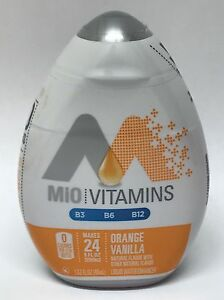 12 BOTTLES Of MIO Vanilla Orange Water Flavoring Drink Mix Flavor Enhancer