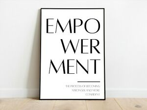 Empowerment Positive Affirmation Home Wall Print A3/A4/A5 Posters Gift Idea