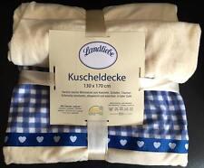 LANDLIEBE Kuscheldecke 130 x 170 cm, NEU & OVP, Tagesdecke, Decke Landhaus Plaid