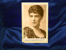 JENNIE JEROME CHURCHILL Cabinet Card Photo Vintage Victorian CDV ca1885