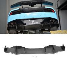Carbon Fiber Rear Bumper Diffuser Fit For Lamborghini Huracan LP600 LP610 14-17