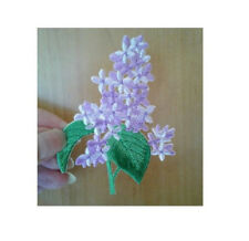Lilac - Gardening - Flowers - Spring - Embroidered Iron On Applique Patch