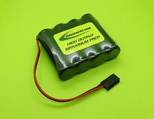4.8v 2500 FLAT BATTERY PACK 4 RC AIRPLANES / J / 2504F-J / MADE IN USA