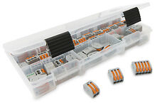 Wago (25) 222-412 (25) 222-413 (20) 222-415 Lever-Nut Assortment Pack with Case