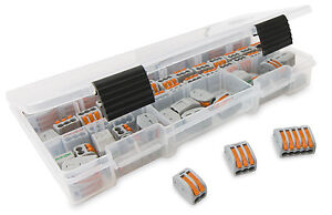 WAGO 222 LEVER-NUTS 70pc Assortment Pack with Case (222-412, 222-413, 222-415)