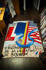 LIBERATION BESANCON 1944-1994 4x6 ft Shelter Original Vintage Advertising Poster