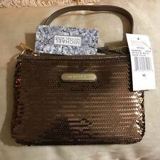 MICHAEL KORS Bronze Metallic Evening Bag Sequeined Leather Handbag NEW!!!!