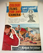 A vintage Kodak leaflet guide to Kodak Films from 1960 - classic