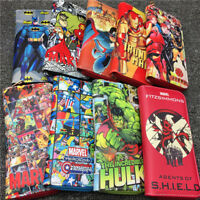 Comics Superheros Long Wallet Batman Loki Hulk Punisher Coin Purse Clutch Gift