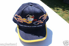 Ball Cap Hat - Olympic Torch Relay - Sydney 2000 - I Saw with Pin (H1180)
