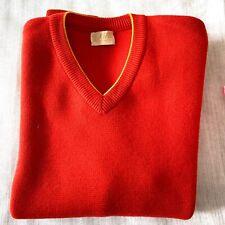 Vintage Kitex Austrian Wool Knit Sweater    Vintage Red V Neck Pullover