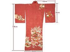 Vintage Stunning Pink Silk Hanazukushi Floral Design Kimono Dec17-C