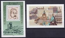 DDR Block 54 + 55 **, Albert Einstein + Briefmarkenausstellung 1979, MNH