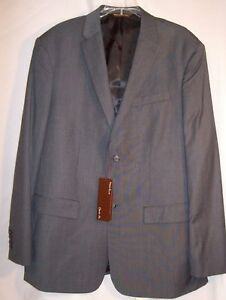 Perry Ellis Classic Fit 46 Regular Mens New Sport Coat Blazer Jacket Charcoal