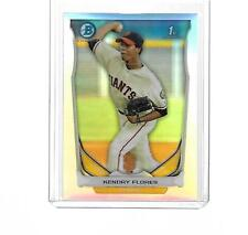 2014 BOWMAN CHROME PROSPECTS BASEBALL KENDRY FLORES REFRACTOR #BCP82 345/500