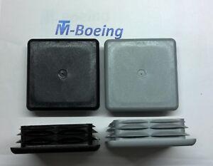 Lamellenstopfen Endkappen Stopfen Gleiter f. Quadrat-Rohr 100x100 grau + schwarz