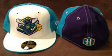 New Orleans Hornets Throwback New Era 59FIFTY Fitted LOGO Hat (White Brim) Sz 7