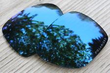 Polarized Navy Blue Mirrored Sunglass Lenses for Oakley Deviation- Grey Tint