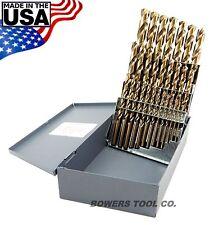 """Norseman 29pc COBALT M42 Drill Bit Set 1/16-1/2"""" Jobber Lengths MADE IN USA D-29"""
