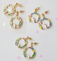 E1070 Betsey Johnson Wonderland Easter Rabbit Bunny Moon Rose Garden Earrings UK