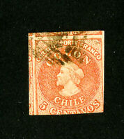 Chile Stamps # 1 VF Used Scott Value $150.00