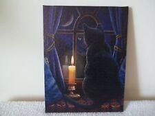 Gorgeous Black Cat Midnight Vigil Wall Canvas By Spirit Equinox New & Sealed