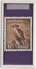 Kookaburra Laughing Jackass Bird On Australia 6 d. Postage Stamp Vintage AdCard
