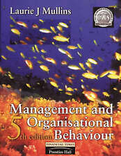 """VERY GOOD"" Management and Organisational Behaviour, Mullins, Laurie J., Book"