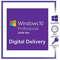 Microsoft Windows 10 Professional 32/64 bit Genuine License Key delivery
