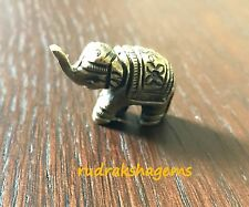 "ELEPHANT STATUE FIGURINE 1"" BRASS BEAUTIFUL DECORATIVE PAPER WEIGHT HAND MADE"