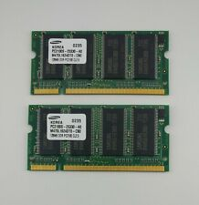 Lot of 2 Samsung 128MB DDR-266 PC2100 200pin SODIMM Memory M470L1624DT0-CB0