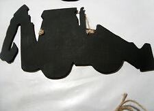 Escavatore con forma Chalk Board Segno Board Lavagna TRATTORE FATTORIA COSTRUZIONI
