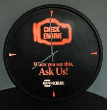 NAPA CHECK ENGINE CLOCK W/ LIGHT BULB ECHLIN NASCAR SHELL