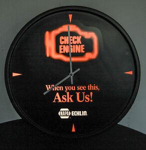 NAPA CHECK ENGINE CLOCK  ECHLIN NASCAR SHELL