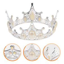 1PC Alloy Crown Cake Topper Pearl Crown Cake Ornament Party Dcor Supplies