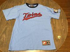 Minnesota Twins Stitched Logo Powder Blue Cooperstown Collection Medium T Shirt
