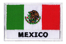 Ecusson brodé patche à coudre drapeau pays patch Mexique Mexico 70 x 45 mm