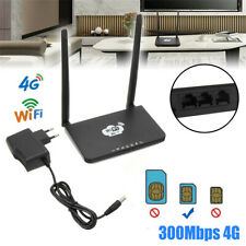 4G LTE Wireless Router 300Mbps CPE Double Antenna WiFi Hotspot W/ SIM Card Slot-
