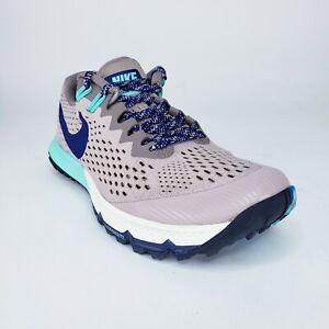 NIKE Air Zoom Terra Kiger 4 Grey Black Orange Running Shoes Women's Size 9