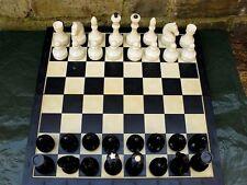 Vintage USSR Russian Soviet Plastic Chess Set Big Plastic Box 40x40cm Board