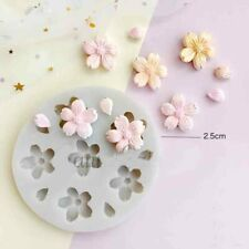 Flower Blossoms Silicone Fondant Mould Cake Decoration Baking Topper Craft Mold