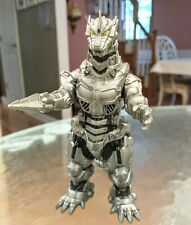 "2005 BANDAI  Toho 6 1/2"" Mecha Godzilla Vinyl Silver Robot Action Figure"