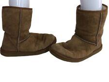 UGG Australia Suede & Faux Fur Women's Boots Warm Winter Brown Size W 9 Uk 7