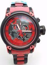 Invicta Men's Analog Display Chronograph Quartz Red and Black Watch