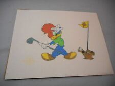 Woody Woodpecker 18th Hole Serigraph, Walter Lantz 1991 Artist Proof 8 1/2 X 11""