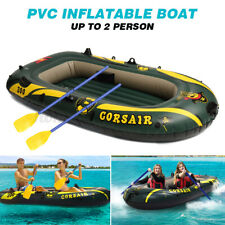 2 Person Floating Boat Raft Set With 2 Oars Inflatable Rafting Fishing Boat Set