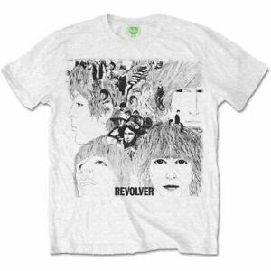 Official The Beatles T Shirt White Revolver Album Cover Mens Lennon McCartney