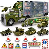 Army Transport Truck Military Toy Truck with Lights and Sound Emergency Release